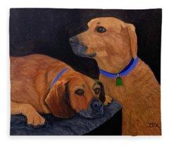 Dog Love Fleece Blanket