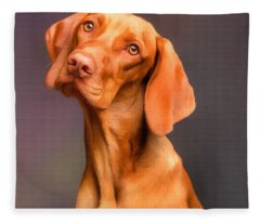 Dog Portrait Fleece Blanket