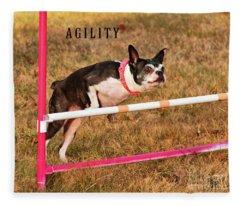 Doggie Agility  Fleece Blanket