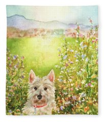 Doggie Heaven Fleece Blanket