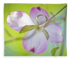 Dogwood Blossom In Spring Fleece Blanket