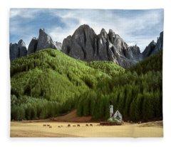 Dolomite Church Fleece Blanket
