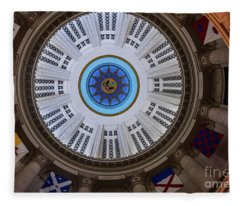Dome Of The Boston Custom House Fleece Blanket