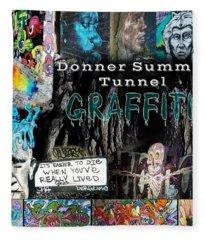 Donner Summit Graffiti Fleece Blanket