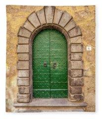 Door Six Of Cortona Fleece Blanket