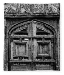 Door To A Black And White Past Fleece Blanket