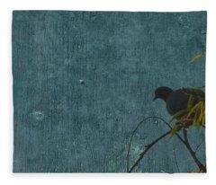Dove In Blue Fleece Blanket