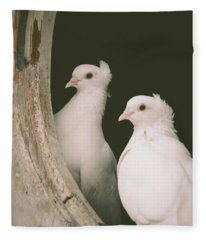 A Pair Of Doves Fleece Blanket