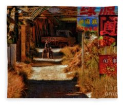 Down The Hill In China Fleece Blanket