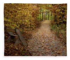 Down The Trail Fleece Blanket