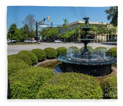 Downtown Aiken Sc Fountain Fleece Blanket