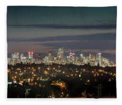 Downtown Dusk Fleece Blanket