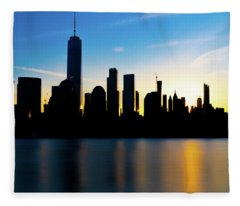 Downtown Silhouette Fleece Blanket
