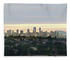 Downtown Sunset Fleece Blanket