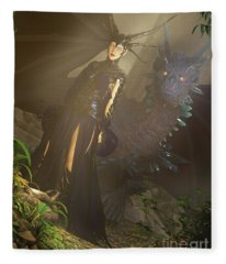 Dragon Empress Fleece Blanket