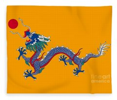 Dragon Of A Chinese Dynasty Fleece Blanket