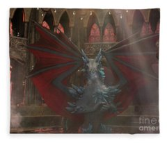 Dragon Steam Bath Fleece Blanket