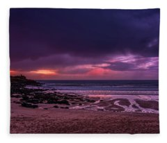 Dramatic Sky At Porthmeor Fleece Blanket