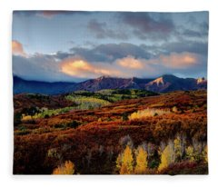 Dramatic Sunrise In The San Juan Mountains Of Colorado Fleece Blanket