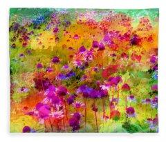 Dream Of Flowers Fleece Blanket
