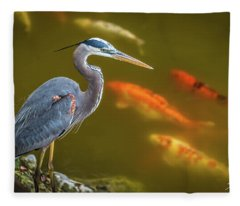 Dreaming Tricolor Heron Fleece Blanket
