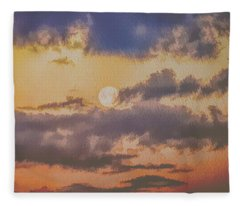 Dreamy Moon Fleece Blanket