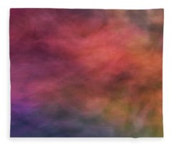 Dreamy Soft Flowing Pastel Abstract Background With Red. Pink, Purple, Blue And Green Shapes Fleece Blanket