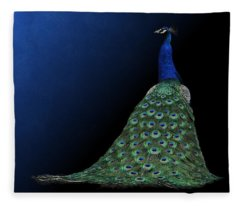 Dressed To Party - Male Peacock Fleece Blanket