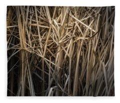 Dried Wild Grass II Fleece Blanket