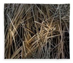 Dried Wild Grass IIi Fleece Blanket