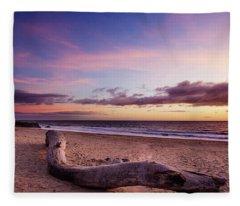 Driftwood At Sunset Fleece Blanket
