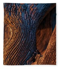 Driftwood At Sunset Fleece Blanket
