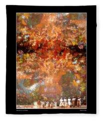 Drummers In A Leaf Storm Fine Art Poster Fleece Blanket