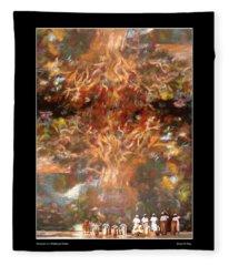 Drummers In A Windswept Dream Poster Fleece Blanket