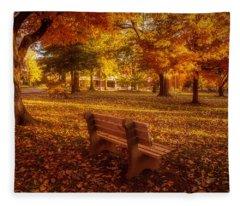 Fleece Blanket featuring the photograph Drury Autumn Color by Allin Sorenson
