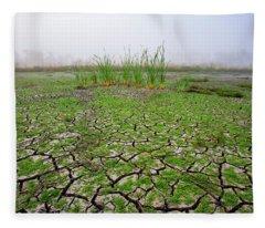 Dry Duck Pond Fleece Blanket