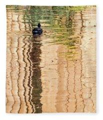 Duck On Reflections Fleece Blanket