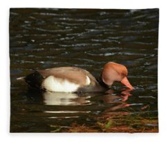 Duck On Water Fleece Blanket
