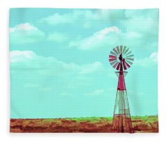 Dueling Tones Windmill Fleece Blanket
