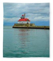 Duluth Lighthouse 2 Fleece Blanket