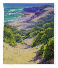 Dunes To The Beach Fleece Blanket