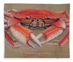 Dungeness Crab Fleece Blanket