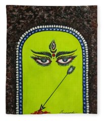 Devi Durga-2 Fleece Blanket