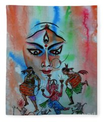 Devi Durga-3 Fleece Blanket