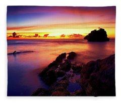 Dusk, Columbus Bay Fleece Blanket