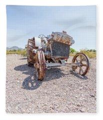 Dust Bowl Farm Fleece Blanket