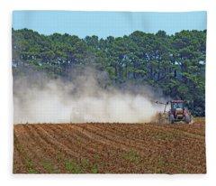 Dust Farming Fleece Blanket