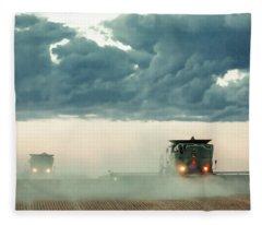 Dusty Dusk Fleece Blanket