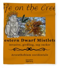 Dwarf Mistletoe Fleece Blanket