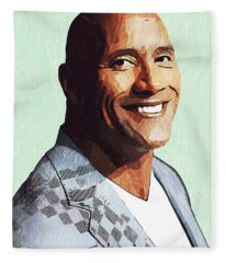 Dwayne Johnson Artwork Fleece Blanket